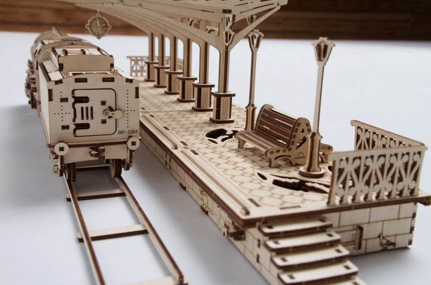 wooden train kit